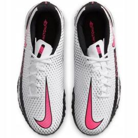 Buty piłkarskie Nike Phantom Gt Academy Tf Jr CK8484-160 białe wielokolorowe 4