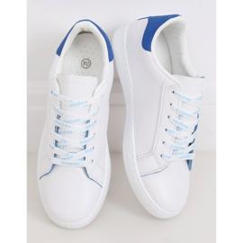 Trampki damskie białe 5G-2 Blue niebieskie 2