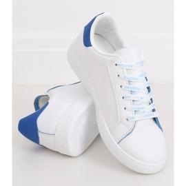 Trampki damskie białe 5G-2 Blue niebieskie 3