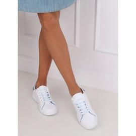 Trampki damskie białe 5G-2 Blue niebieskie 5