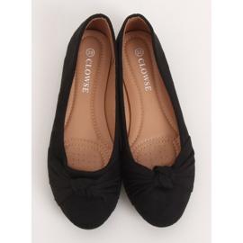 Baleriny damskie czarne 8F62 Black 1