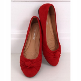 Baleriny damskie czerwone 8F62 Red 2