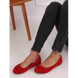 Baleriny damskie czerwone 8F62 Red 5