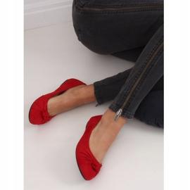 Baleriny damskie czerwone 8F62 Red 4