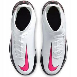 Buty piłkarskie Nike Phantom Gt Club Df Tf Jr CW6729-160 białe wielokolorowe 7