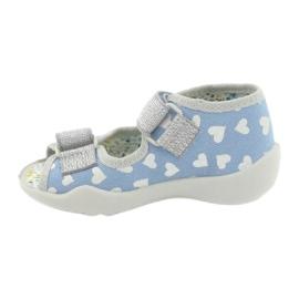 Befado obuwie dziecięce 242P101 niebieskie szare 2