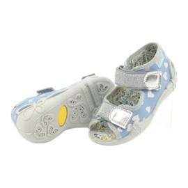 Befado obuwie dziecięce 242P101 niebieskie szare 4