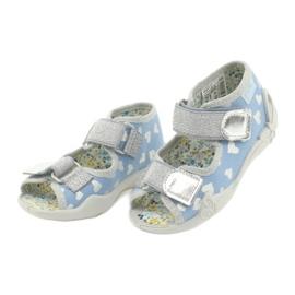 Befado obuwie dziecięce 242P101 niebieskie szare 3