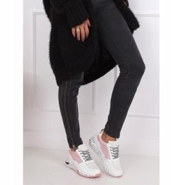 Buty sportowe damskie białe C-3151 Pink 3