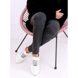 Buty sportowe damskie białe C-3151 Pink 2