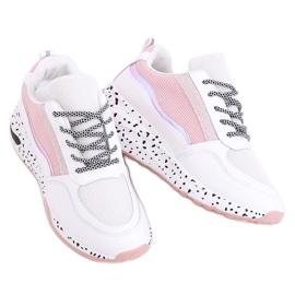 Buty sportowe damskie białe C-3151 Pink 1