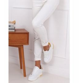 Trampki na ukrytym koturnie białe MY-0367 WHITE/YELLOW 2