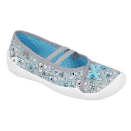 Befado obuwie dziecięce 116Y274 niebieskie szare 1