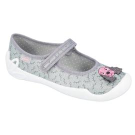 Befado obuwie dziecięce 114Y411 szare 1