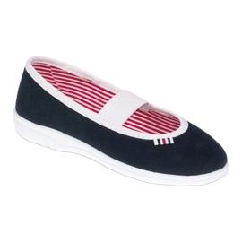 Befado obuwie dziecięce 274X014 granatowe 1