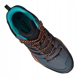 Buty adidas Terrex Swift R2 Mid Gtx M FV6840 granatowe niebieskie zielone 1