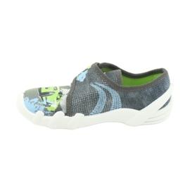 Befado obuwie dziecięce 273X288 szare zielone 2