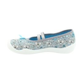 Befado obuwie dziecięce 116Y274 niebieskie szare 2