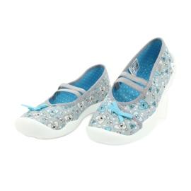 Befado obuwie dziecięce 116Y274 niebieskie szare 3
