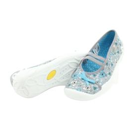 Befado obuwie dziecięce 116Y274 niebieskie szare 4