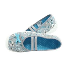 Befado obuwie dziecięce 116Y274 niebieskie szare 5