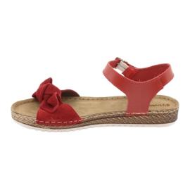 Comfort Inblu obuwie damskie 158D117 czerwone 2