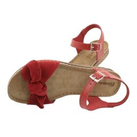 Comfort Inblu obuwie damskie 158D117 czerwone 5