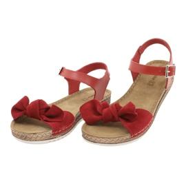 Comfort Inblu obuwie damskie 158D117 czerwone 3