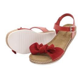 Comfort Inblu obuwie damskie 158D117 czerwone 4