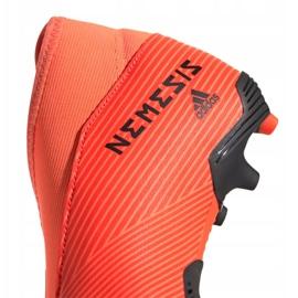 Buty piłkarskie adidas Nemeziz 19.3 Ll Fg Jr EH0488 pomarańczowe czerwone 1