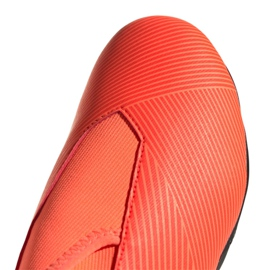 Buty piłkarskie adidas Nemeziz 19.3 Ll Fg Jr EH0488 pomarańczowe czerwone 2