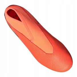 Buty piłkarskie adidas Nemeziz 19.3 Ll Fg Jr EH0488 pomarańczowe czerwone 4
