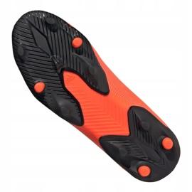 Buty piłkarskie adidas Nemeziz 19.3 Ll Fg Jr EH0488 pomarańczowe czerwone 5
