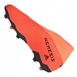Buty piłkarskie adidas Nemeziz 19.3 Ll Fg Jr EH0488 pomarańczowe czerwone 6