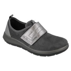 Befado obuwie damskie 156D003 czarne szare 1