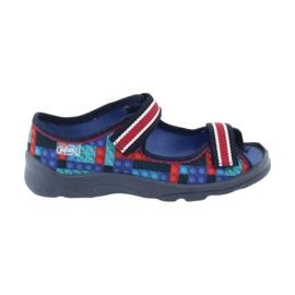 Befado obuwie dziecięce  969X153 czerwone granatowe niebieskie 6