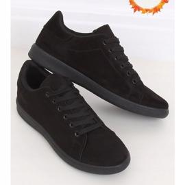 Trampki damskie zamszowe czarne 6301 Black 1