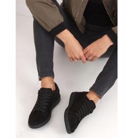 Trampki damskie zamszowe czarne 6301 Black 4