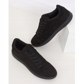 Trampki damskie zamszowe czarne 6301 Black 2