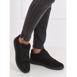 Trampki damskie zamszowe czarne 6301 Black 5