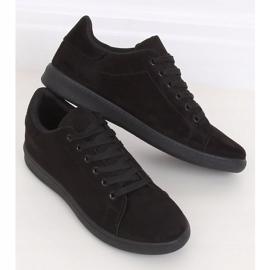 Trampki damskie zamszowe czarne 6301 Black 3