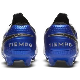 Buty piłkarskie Nike Tiempo Legend 8 Elite M Fg AT5293 104 białe wielokolorowe 4
