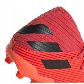 Buty piłkarskie adidas Nemeziz 19.3 Fg Jr EH0492 czerwone czerwone 2