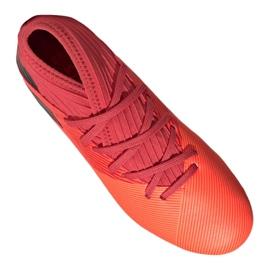 Buty piłkarskie adidas Nemeziz 19.3 Fg Jr EH0492 czerwone czerwone 4