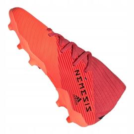 Buty piłkarskie adidas Nemeziz 19.3 Fg Jr EH0492 czerwone czerwone 6