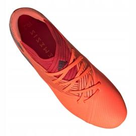 Buty piłkarskie adidas Nemeziz 19.2 Fg M EH0293 czerwone czerwone 4