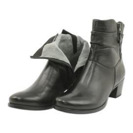 Caprice czarne botki na obcasie 25347 4