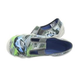 Befado obuwie dziecięce 290Y210 szare zielone 5