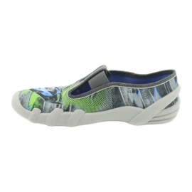 Befado obuwie dziecięce 290Y210 szare zielone 2