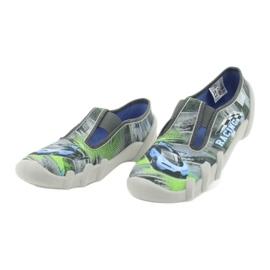 Befado obuwie dziecięce 290Y210 szare zielone 3